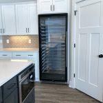 Large wine fridge in a kitchen.