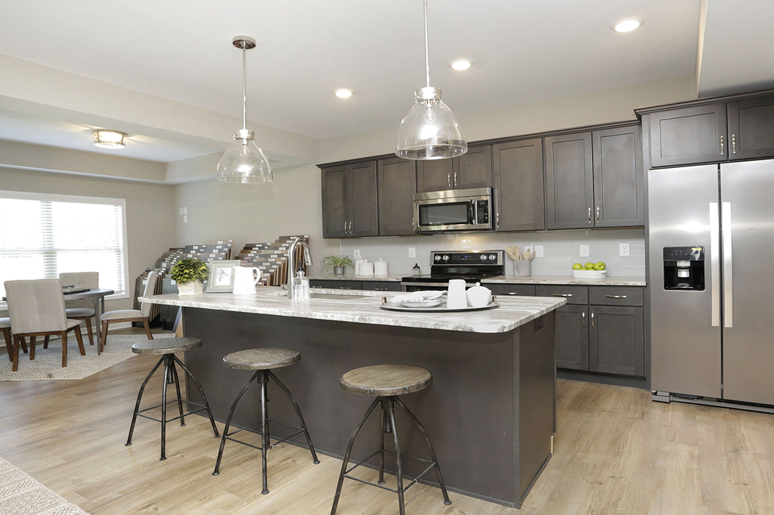 Beautiful kitchen in a new home in lexington, ky by J Perry Homes.